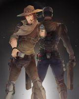 Blackwatch McCree and Reyes by Laulaubi
