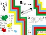 Simple Wallpaper Calendar by rbp-rocketboyz