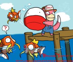 Redneck Pokemon fishing by BrokenTeapot