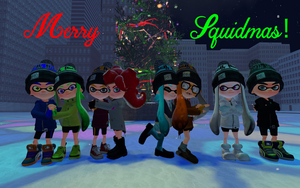 Merry Squidmas 2016 by DarkMario2