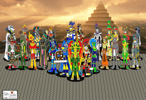 Yucatan-Teteoh-Apu Alliance 01 - Aztec by DragonSnake9989