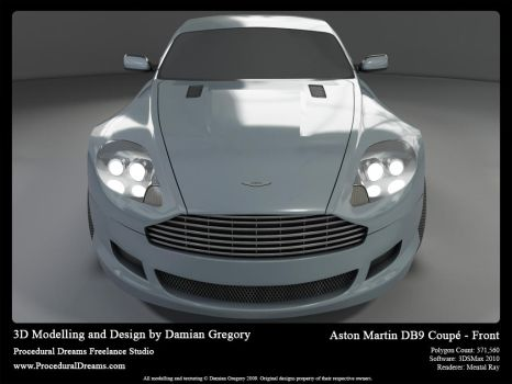 Aston Martin DB9 Coupe Front by heretik66