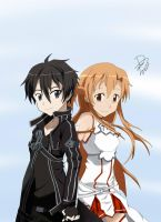 Kirito x Asuna by DimentionDragon