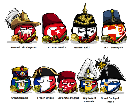 Polandball 1800s uniforms by KaliningradGeneral