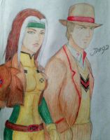 Rogue and Fifth Doctor by julianDB92