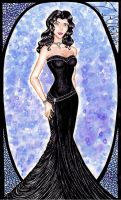 Young Justice Evening Gowns: Zatanna by GossamerWing