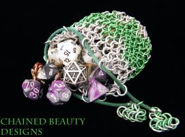 Green and Silver Bag by ChainedBeauty