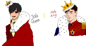 Pchat: YJ SOFA KING AND QUEEN by Jellygay