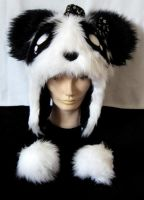Big Furry Panda Hat by ShearNonsense