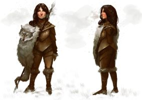 Female Warrior Snow by loginatu