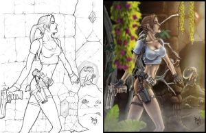 Commission Lara Croft progress by madmagnus
