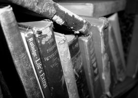 Antique Books. Black and White Version by tararleigh