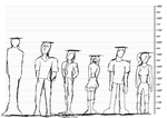 Height Chart 1 for Never the Same Comics by ToaNova