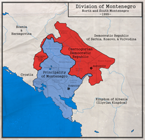 Division of Montenegro by zalezsky
