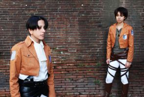 SNK -Levi and Eren 02 by cosplay33