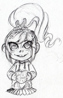 Venellope Sketch by DarkBlue-Icing