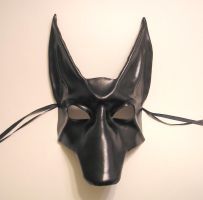 Black Jackal Leather Mask by teonova