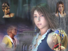 FFX-2 Wallpaper by YunaBevelle
