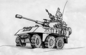 Imperial Guard 6W Armoured Car by StugMeister