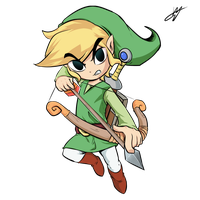 toon link by kyodashiro