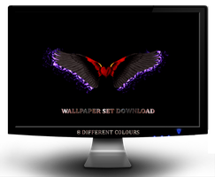 LOVE WINGS 8 colours Wall Set by jeshans