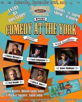 Comedy at the York Poster by glenkamo