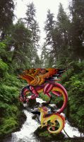 Swift Falls Pano With TRD and Sunny by RegineSkrydon