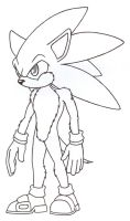 Furry Sonic lineart by N0B0D1