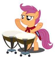 Scootaloo, The Master of the Drums by Camsy34