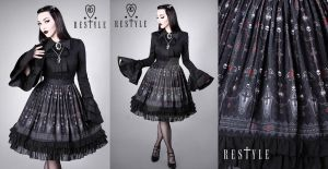 Vampire Aristocrat Skirt by Euflonica
