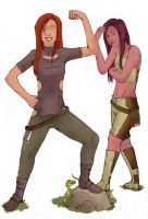 Lena and Shaela by Seithe