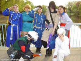 Cosplay group photo by NekoFlameAlchemist