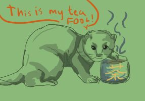 The Tea Ferret by daisyofthenight