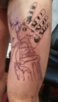 Edward elric automail tattoo session 1 by flaviudraghis