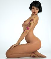 Tattoo angel Pose 3 by 3dmania