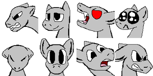 MLP Rpg face bases 2 by Banditmax201