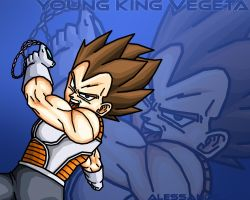Young King Vegeta wallpaper by alessandelpho
