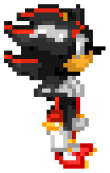 Shadow The Hedgehog - Sonic Blast Style by MaikeruThePlayer