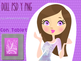 Doll Infinity Purple PSD y PNG by ludmiladossantosrego