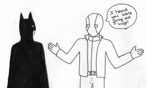 Jason Todd welcomes Bruce back by minekurafan