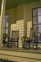 Rocking chairs at night by ENT2PRI9SE