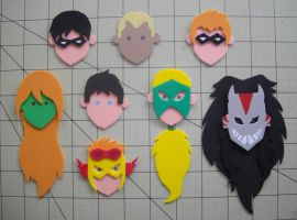 Foam Faces: Young Justice by Meika02
