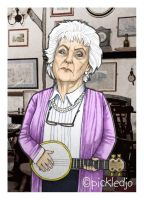 Sylvia Goodwin Cropper Caricature Corrie by pickledjo