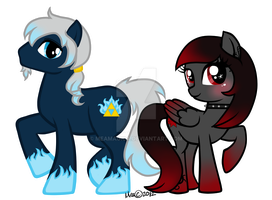 Flame Riser and Punky Star by mea0113