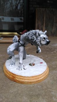 Original The Tracker Werewolf Sculpture by starwolf303