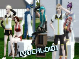 Vocaloid in Sims 2 by NegativeDanna