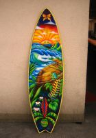 tropical surfboard by master-kining