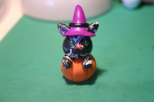 Witch Kitty Sitting in a pumpkin by Lugiafan4life