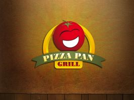Logo Pizza pan grill by gustavitos