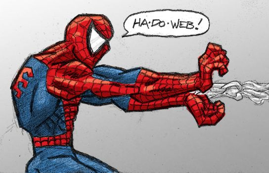 Spidey Plays Street Fighter by LOWLIGHT